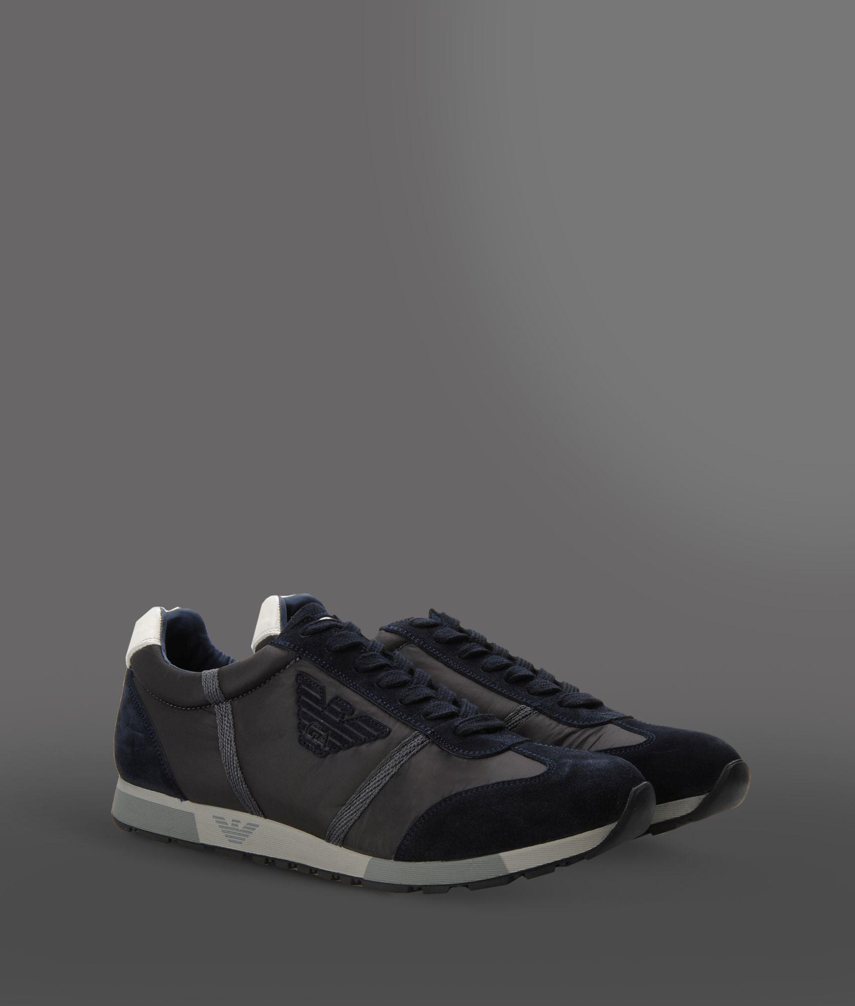 Emporio Armani Trainers - black/blue/grey QFiVmE