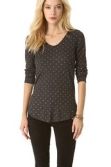Free People Printed Desperate Thermal Top - Lyst