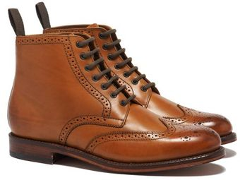 Grenson Sharp Derby Boot Tan - Lyst