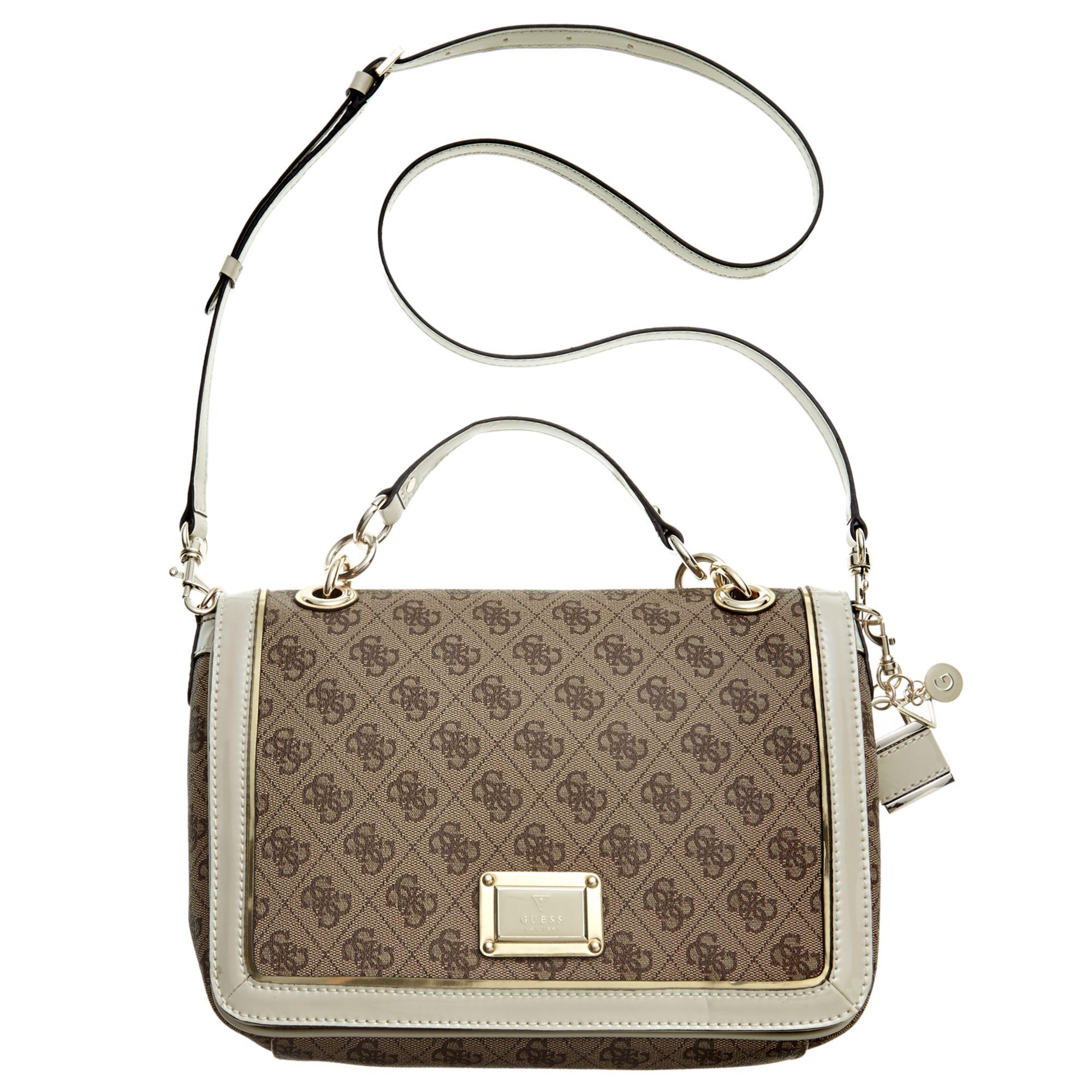 Lyst - Guess Guess Handbag Reama Top Handle Flap Shoulder Bag in White 83832720d1c91