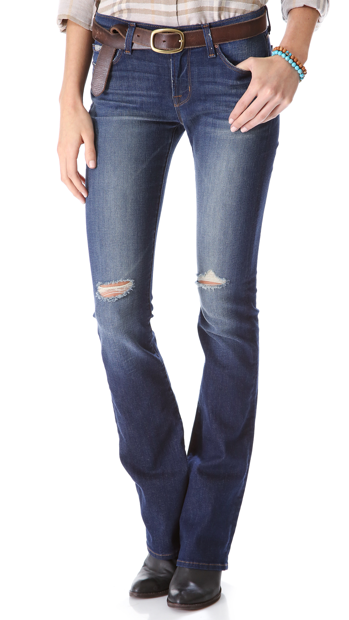 j brand brooke boot cut jeans in blue alta lyst. Black Bedroom Furniture Sets. Home Design Ideas