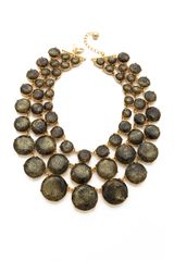 Kate Spade Steal The Spotlight Triple Strand Necklace - Lyst