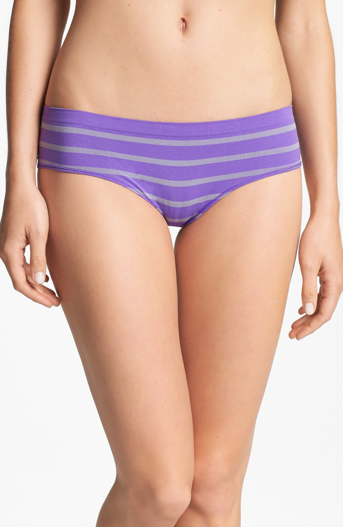 Make + model Stripe Seamless Hipster Briefs in Purple