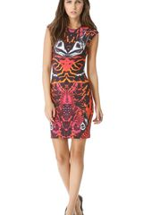 McQ by Alexander McQueen Interlock Cap Sleeve Dress - Lyst