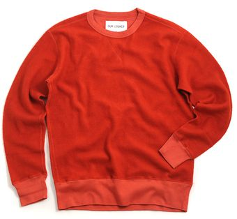 Our Legacy Reversible Sweat Shaggy Red - Lyst