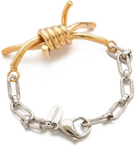 Rodarte Barbed Wire Bracelet In Gold Gold Silver Lyst
