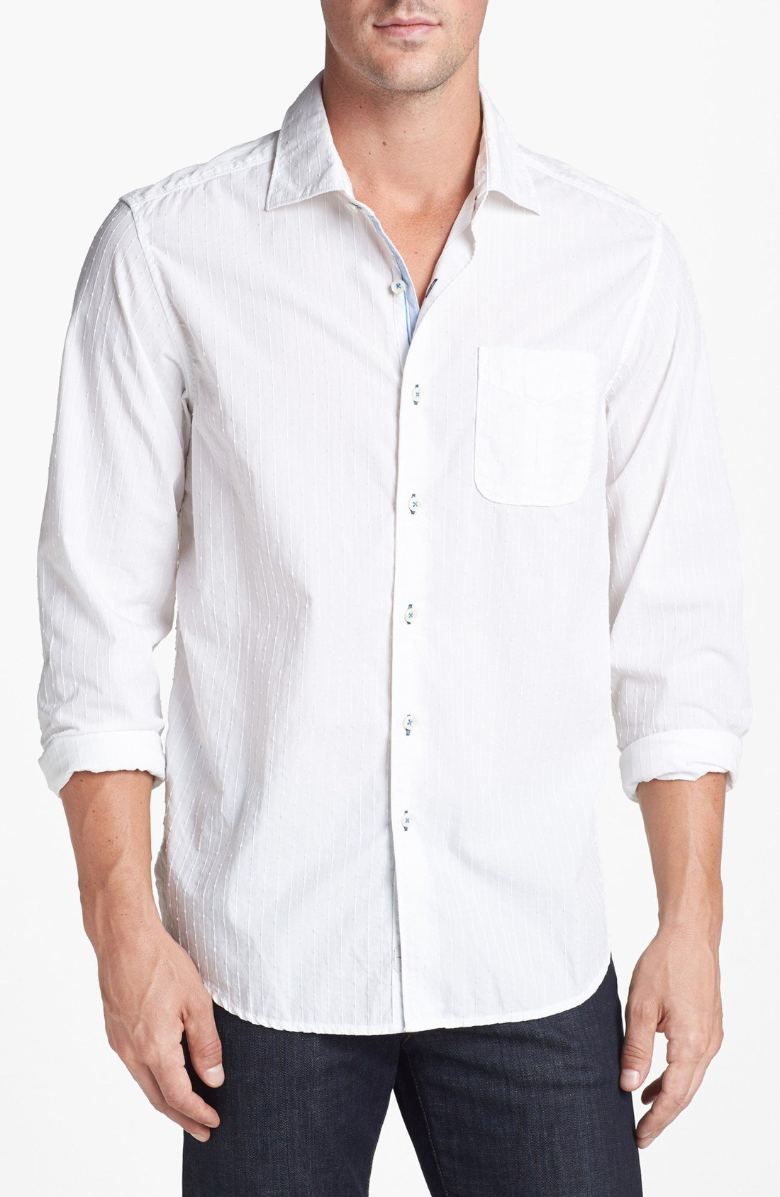 Tommy bahama 3 stripe n seek sport shirt in white for men for Where to buy tommy bahama shirts