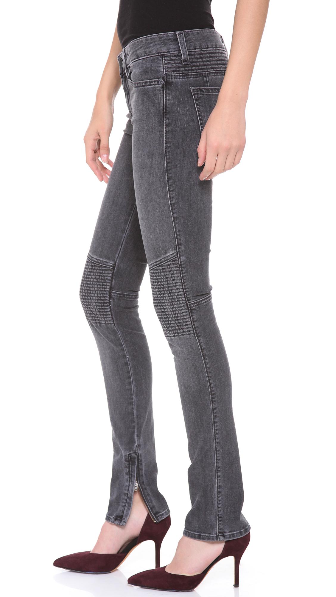 Lyst Vince Ankle Zip Moto Pants In Gray