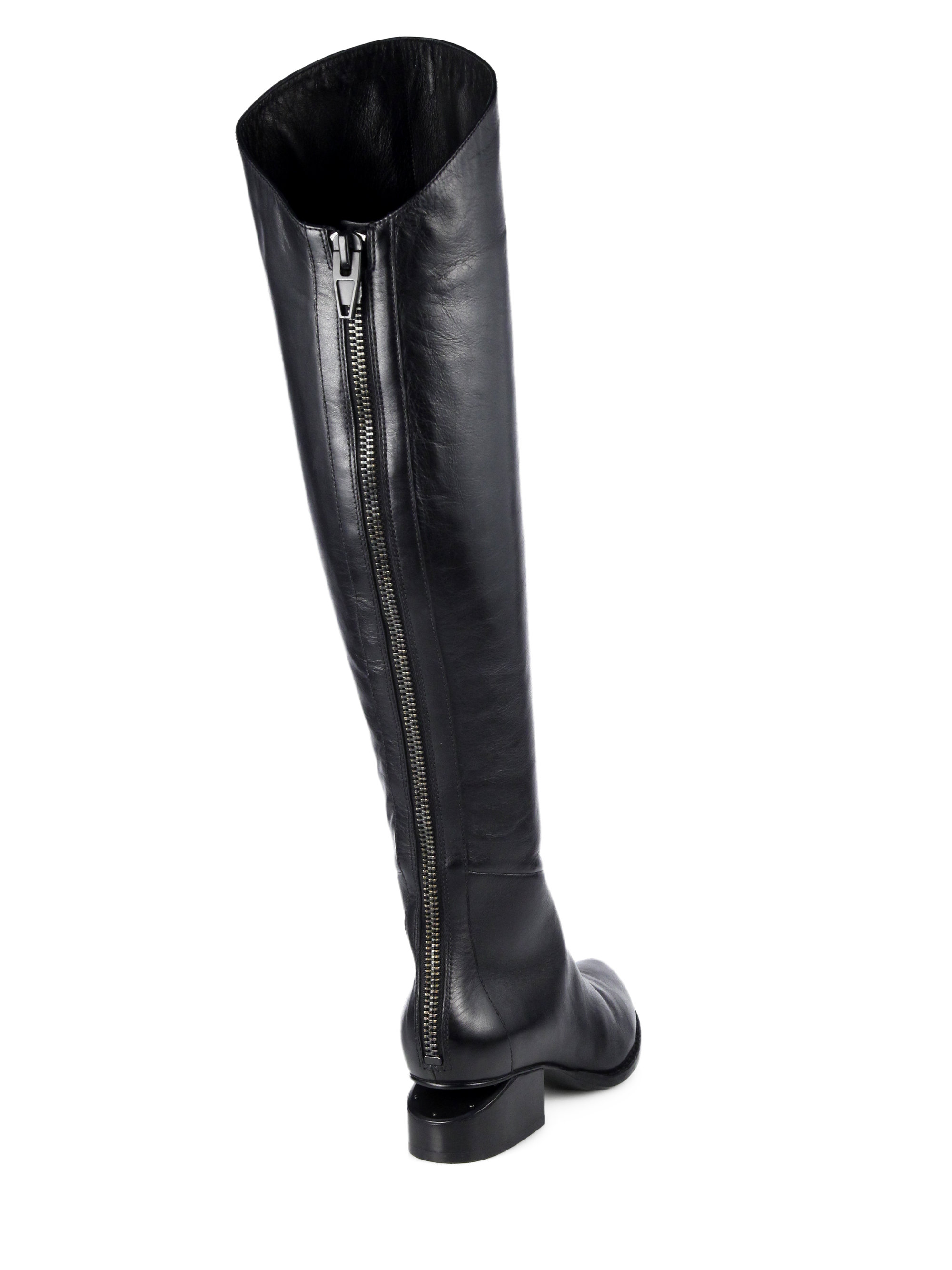 Alexander wang Sigrid Leather Over-The-Knee Boots in Black | Lyst
