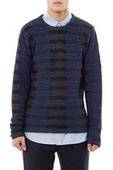 Alexander Wang Colour Block Jacquard Sweater - Lyst