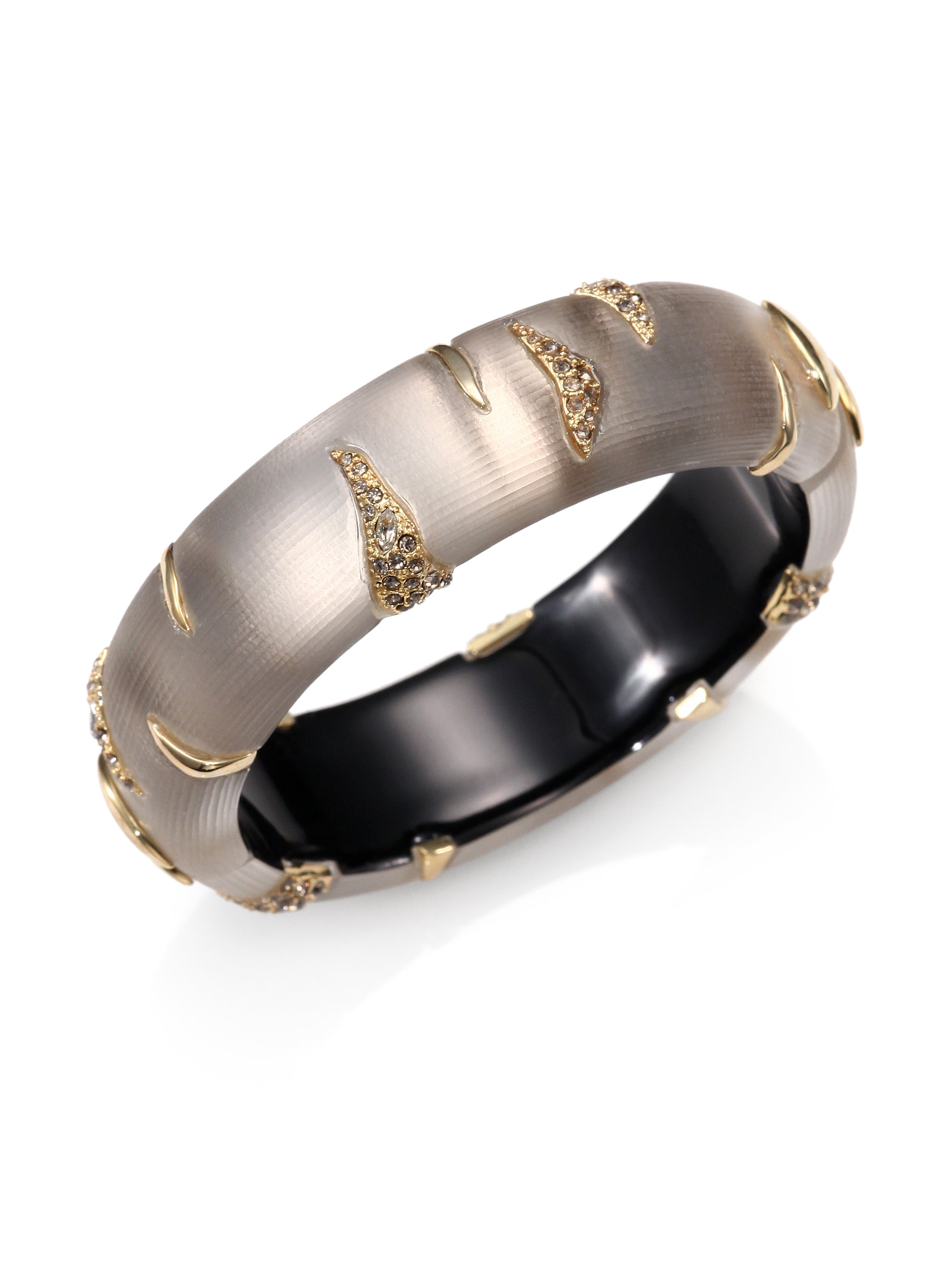 dfa8a390b65b Lyst Alexis Bittar Lucite Crystal Tiger Stripe Bangle Bracelet In