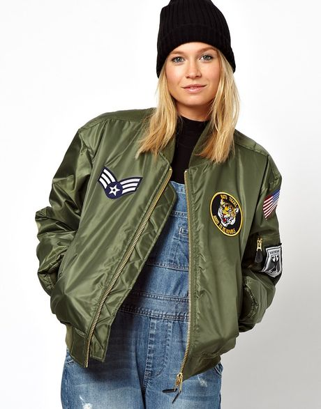 Asos Reclaimed Vintage Original Ma1 Flying Jacket In Green