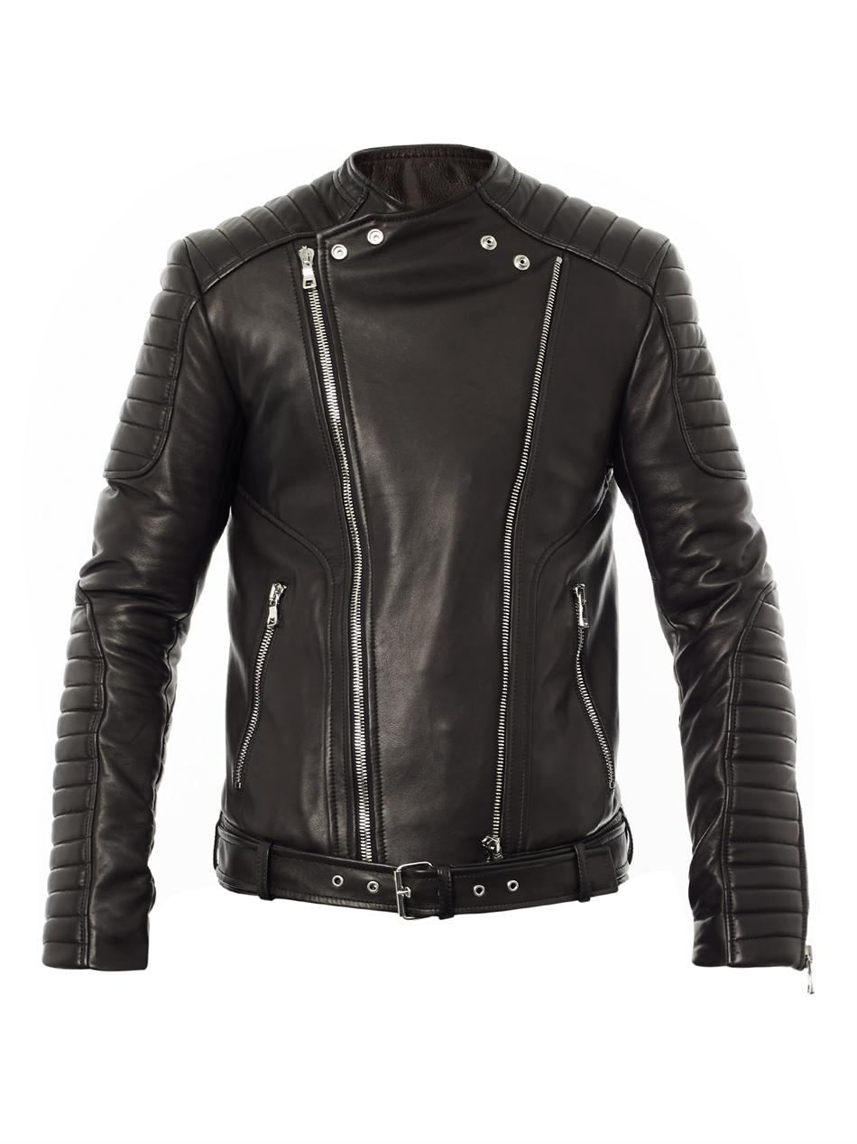 Black leather jacket Balmain 2018 Newest 0oJn2Y