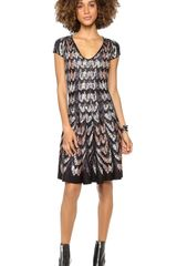 BCBGMAXAZRIA V Neck Sweater Dress - Lyst