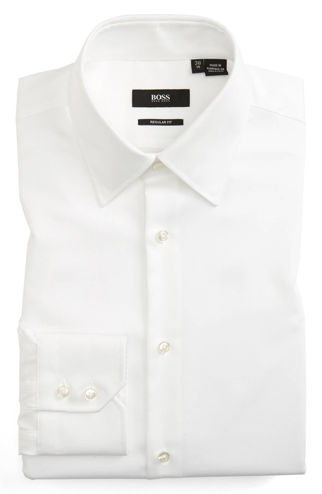 Easy Iron 25 Mg: Boss By Hugo Boss Easy Iron Regular Fit Dress Shirt In