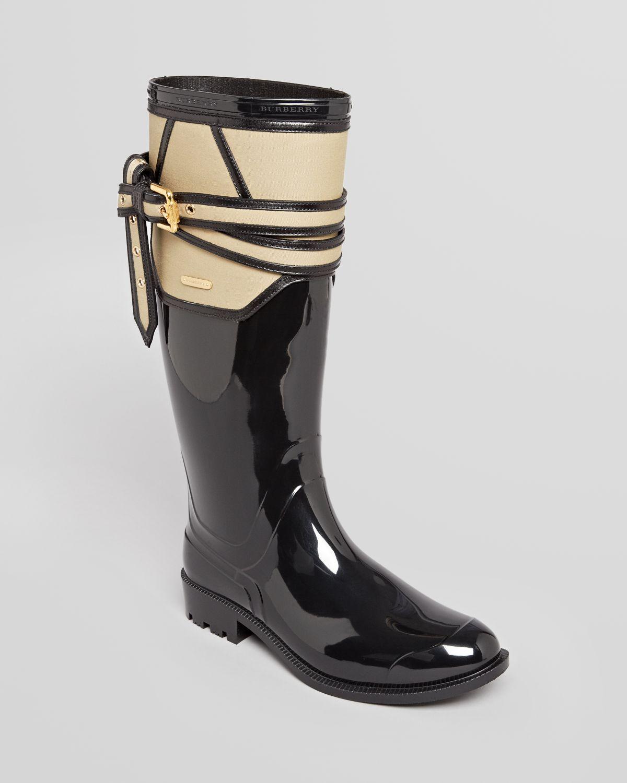 burberry rain boots rain boots willesden trench in black