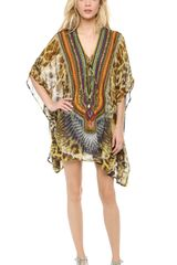 Camilla At Talons Length Short Caftan - Lyst