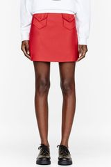 Chloë Sevigny For Opening Ceremony Red Double Pocket Mini Skirt - Lyst