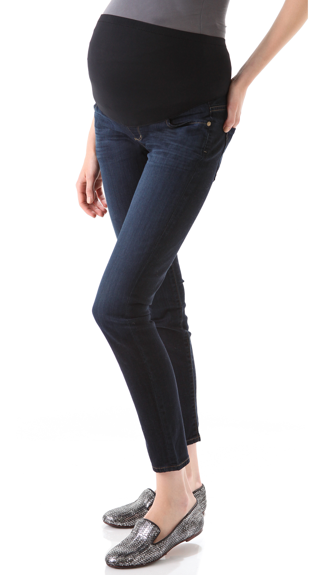 citizens of humanity thompson skinny maternity jeans in. Black Bedroom Furniture Sets. Home Design Ideas