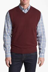Cutter & Buck Lake Union V-neck Sweater Vest - Lyst