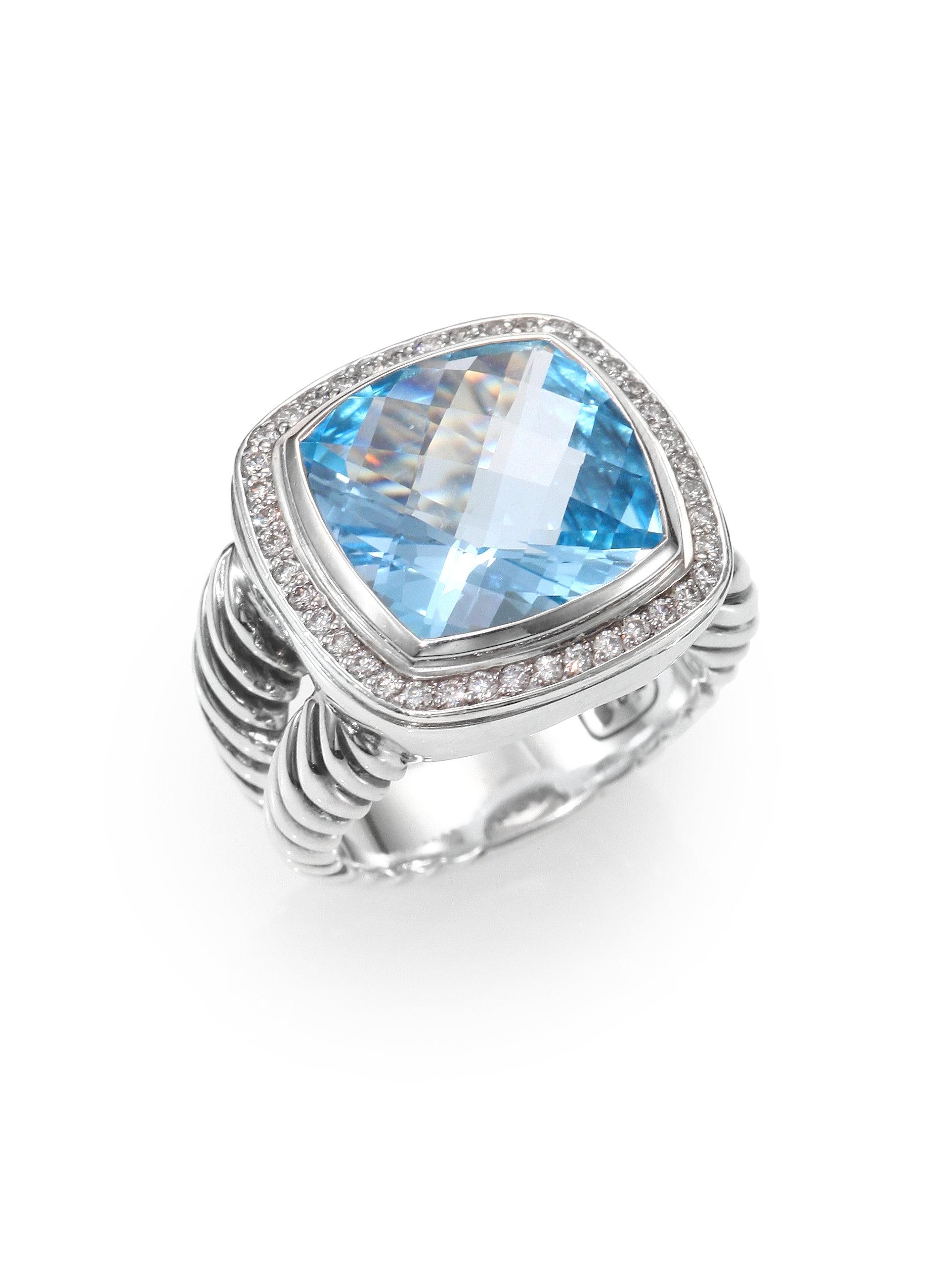 david yurman blue topaz diamond sterling silver ring in. Black Bedroom Furniture Sets. Home Design Ideas