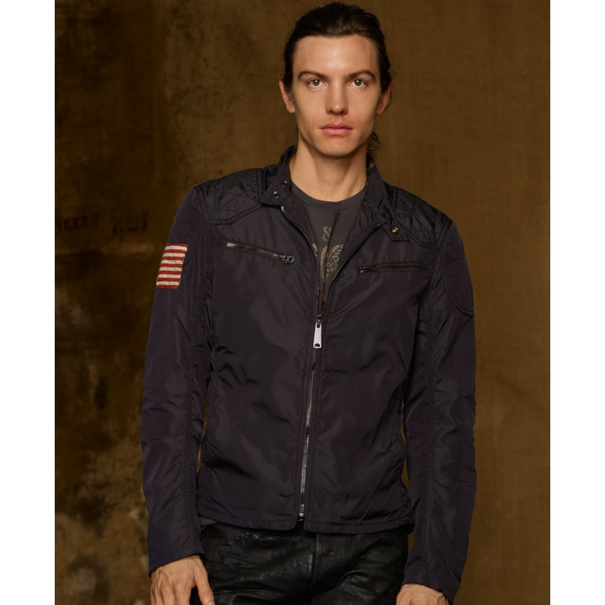 Lyst - Denim u0026 Supply Ralph Lauren Motorcycle Jacket in Black for Men