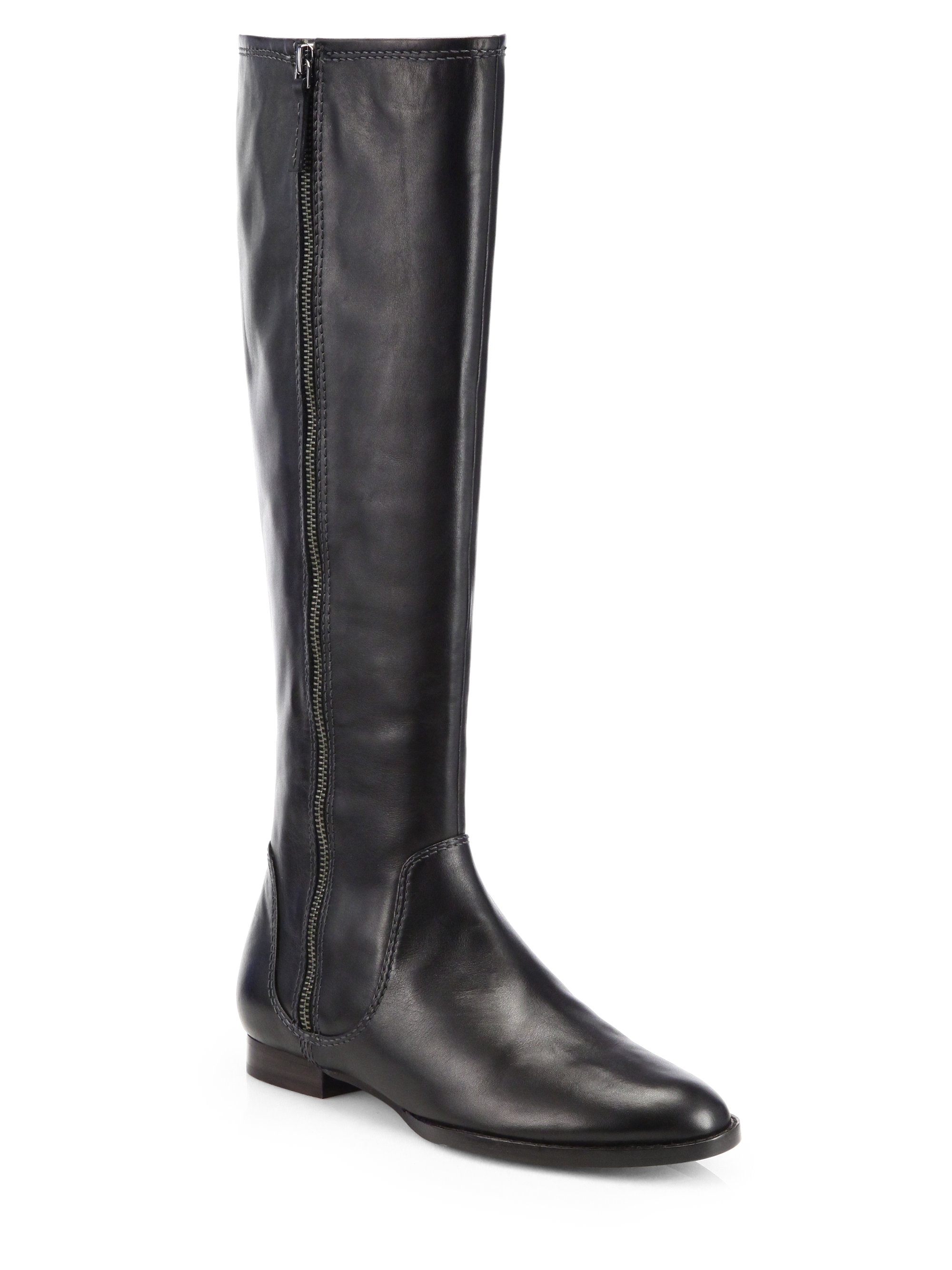 elie tahari rover leather boots in black lyst