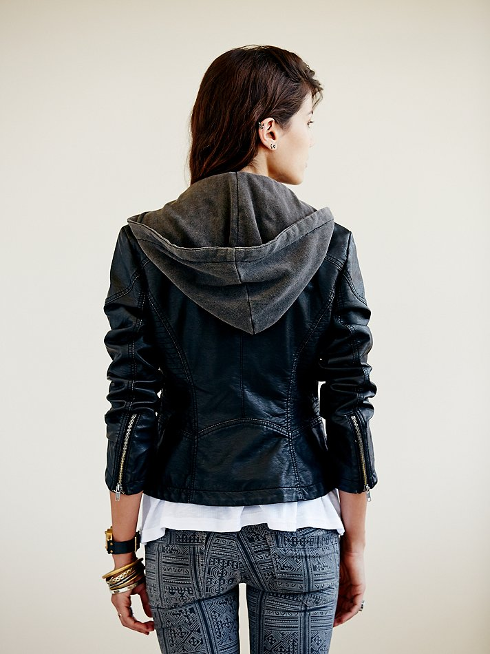 Free People Vegan Leather Jacket