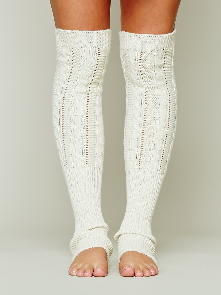 Free People Cable Zen Legwarmer In White Lyst