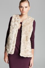 French Connection Vest Nala Faux Fur - Lyst