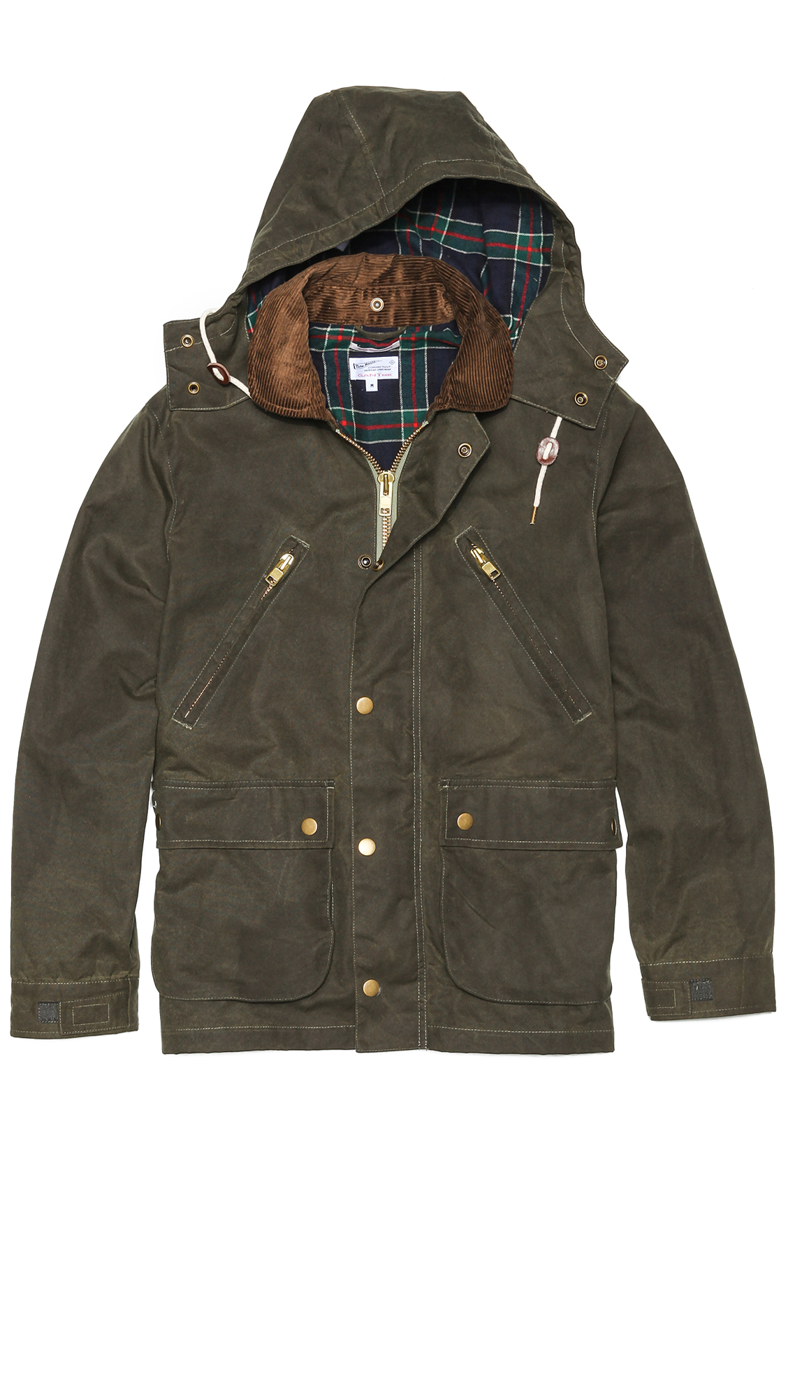 Lyst Gant Rugger Wax Your Back Coat In Green For Men