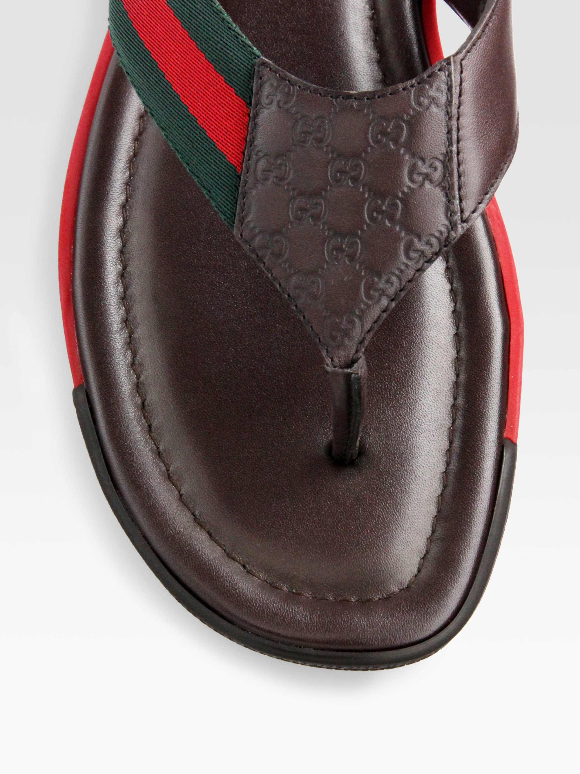 d03bcad21 Gucci Thong Sandals in Brown for Men - Lyst