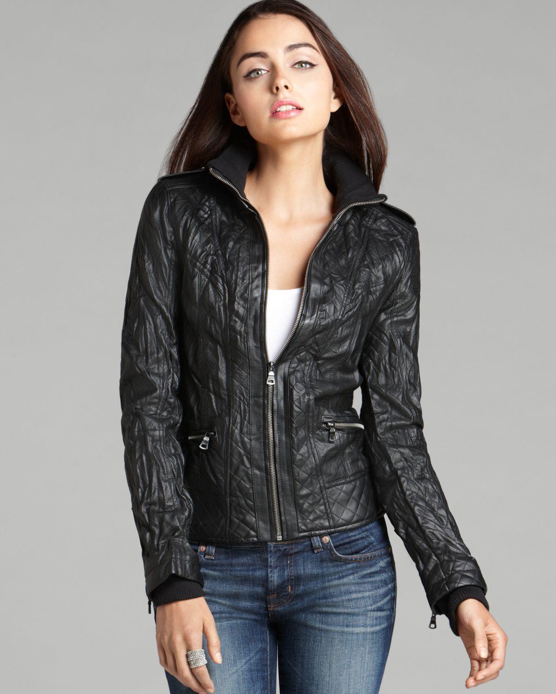151e0623 Guess Jacket Berlin Faux Leather in Black - Lyst