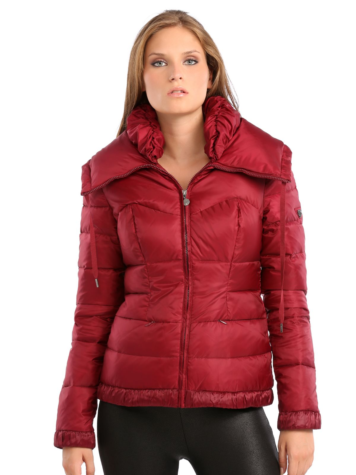 Guess Kiarna Down Jacket In Red Red Multi Lyst