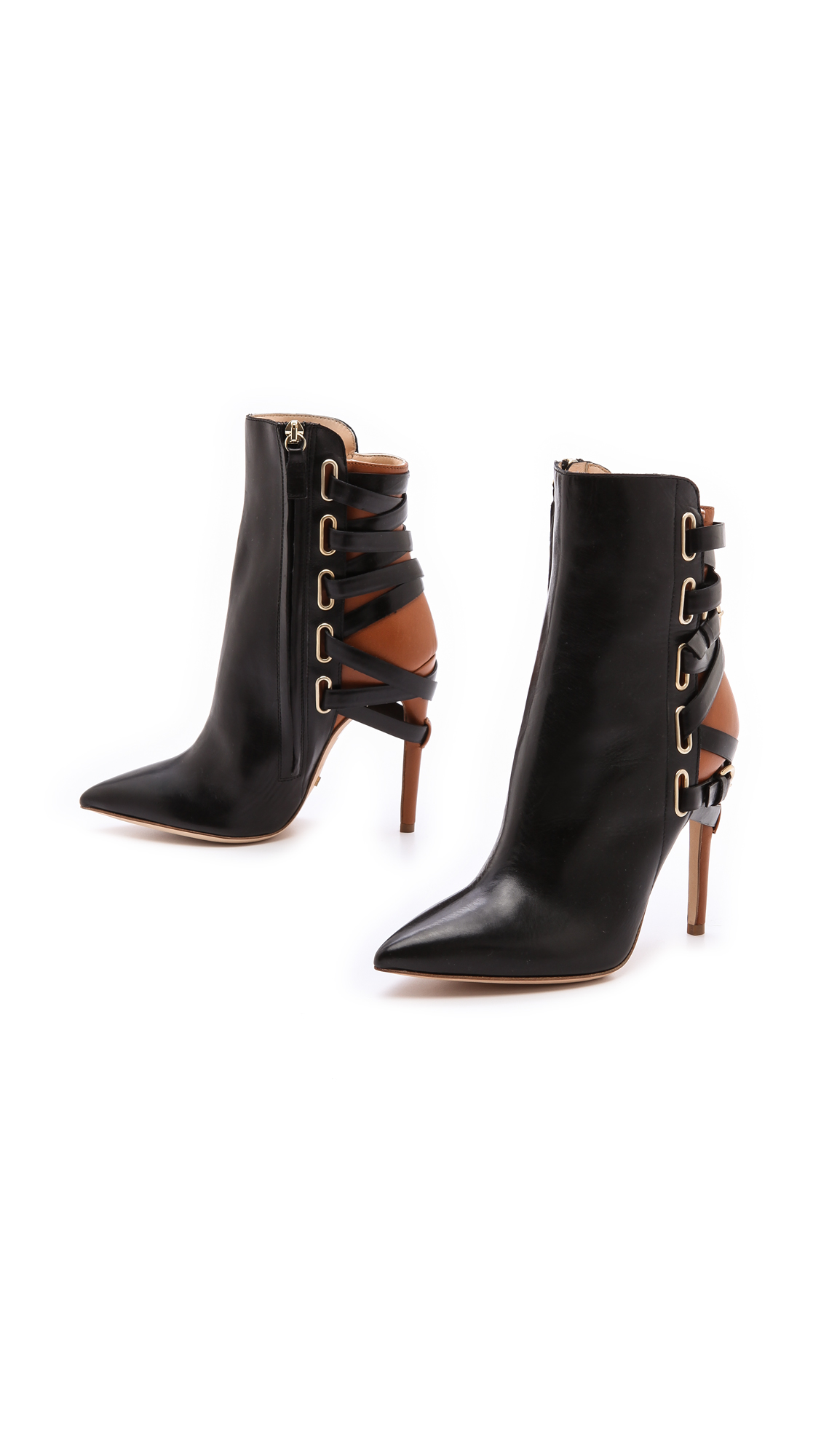 JEROME C ROUSSEAU Jiro Leather Ankle Boot