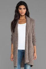 Joie Soft Boucle Wendi Cardigan in Brown - Lyst