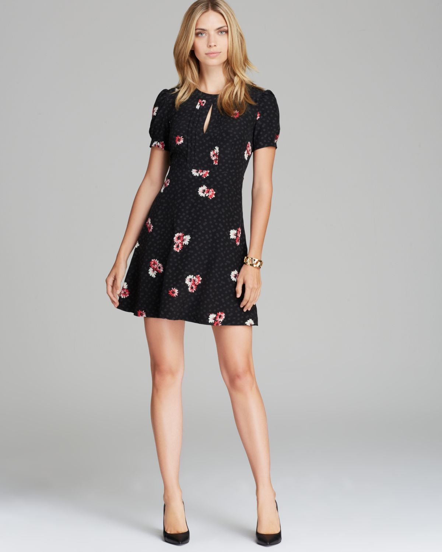 Lyst - Juicy Couture Dress Sadie Silk in Black