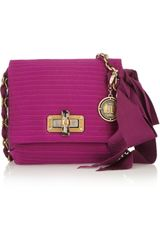 Lanvin The Mini Pop Quilted Satin Shoulder Bag - Lyst