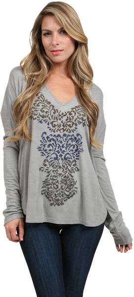 Love Sam Beaded Long Sleeve - Lyst