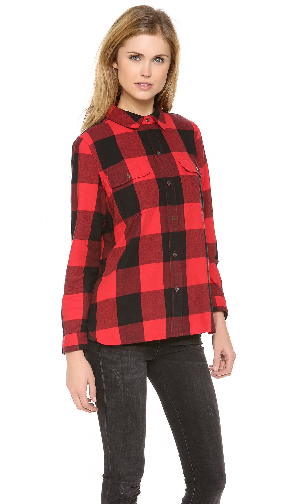 Red And Black Flannel Shirt Women S