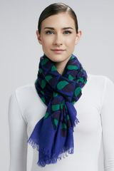 Marc By Marc Jacobs Etta Decoprint Scarf Jungle Greenpurple - Lyst