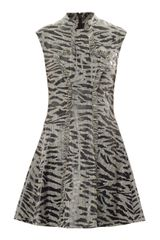McQ by Alexander McQueen Prince Of Wales and Tiger-print Dress - Lyst