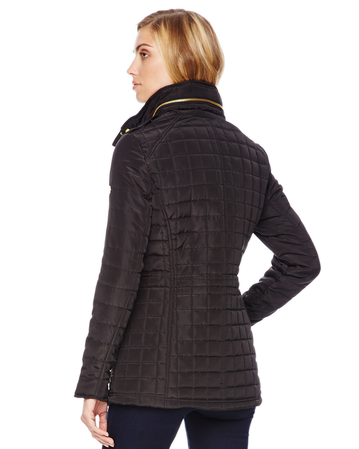 Lyst Michael Kors Michael Quilted Puffer Jacket In Black