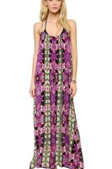 Mink Pink Tahiti Maxi Cover Up Dress - Lyst