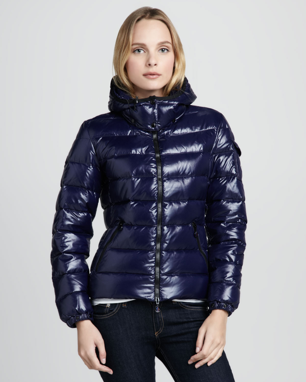 moncler shiny puffer coat