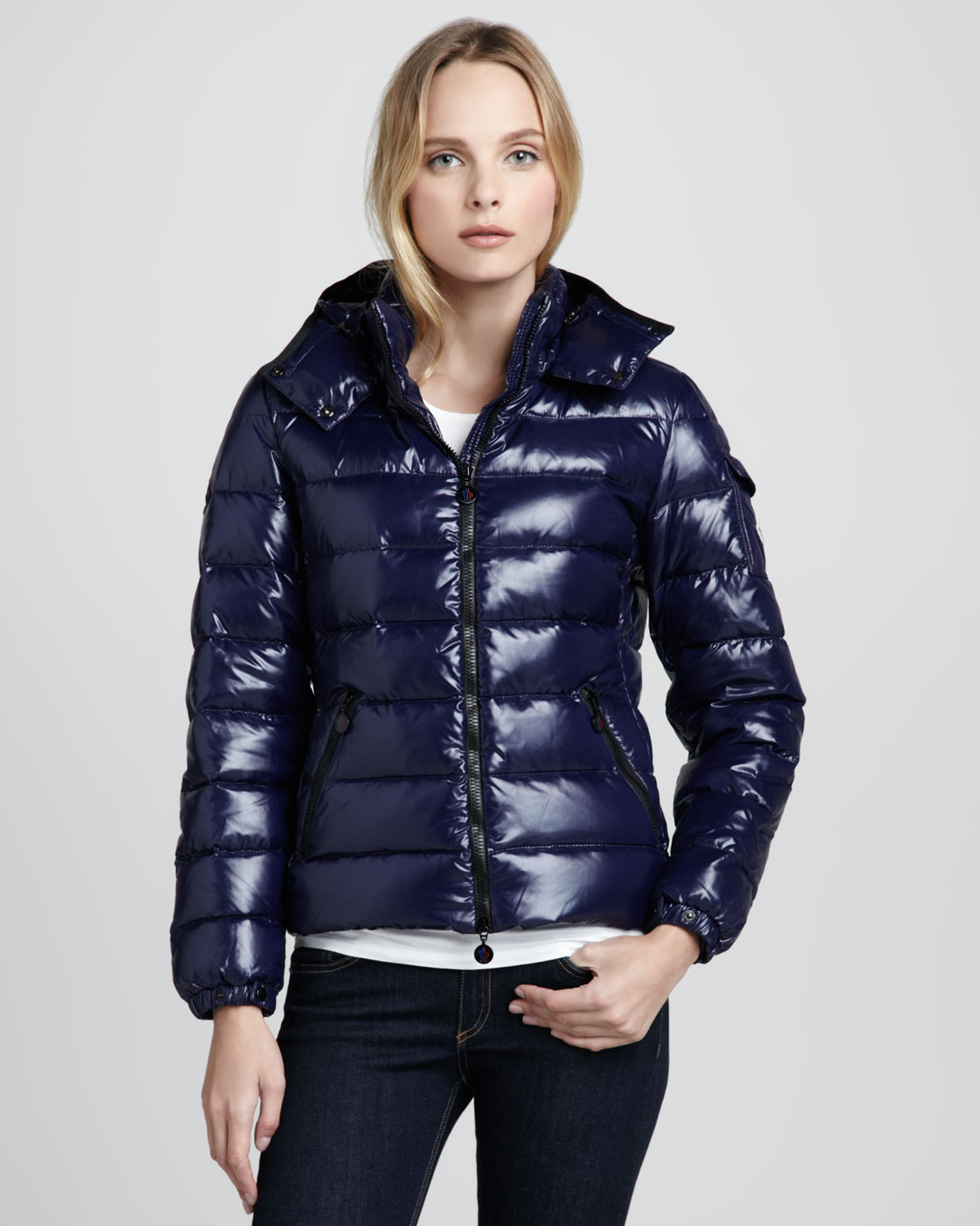 Lyst - Moncler Bady Short Puffer Jacket in Blue