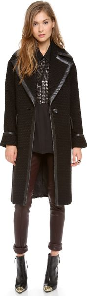 Rachel Zoe Maxwell Oversized Coat in Black