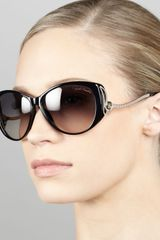 Roberto Cavalli Droptemple Cateye Sunglasses Black - Lyst