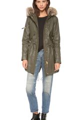 Sam. Hudson Parka with Fur Trim - Lyst