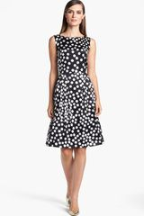 St. John Collection Dot Print Silk Charmeuse Dress - Lyst